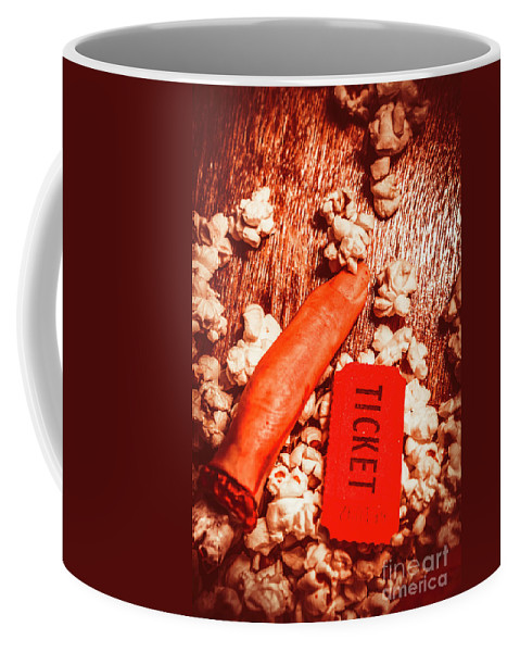 Theater Coffee Mug featuring the photograph Horror Film Concept by Jorgo Photography - Wall Art Gallery