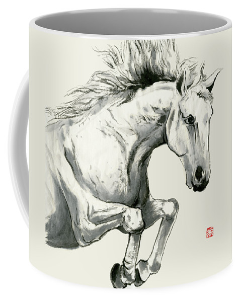 Horse Coffee Mug featuring the painting Horse - 6 by River Han