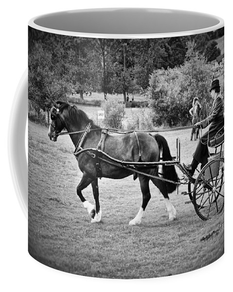 Horse Coffee Mug featuring the photograph Horse And Cart by Mark Hunter