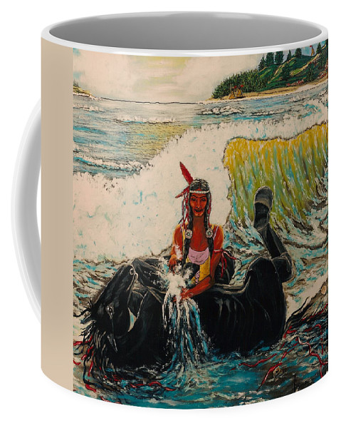 Horses Coffee Mug featuring the painting Horse Bath by V Boge