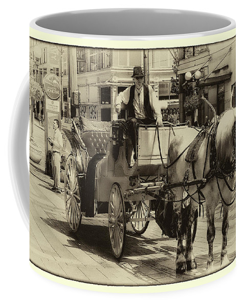 Carriage Coffee Mug featuring the photograph Horse Drawn Carriage by David Patterson