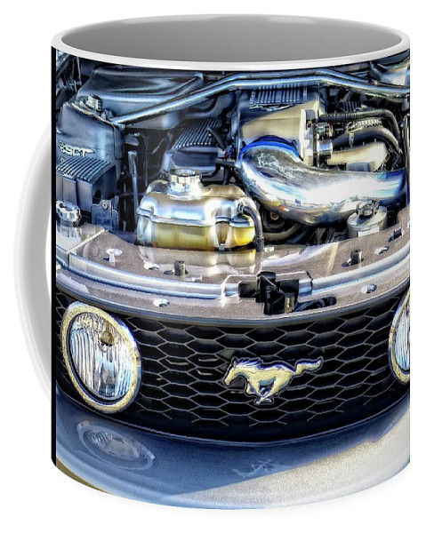 Ford Coffee Mug featuring the photograph Horse Power by Cheryl Kurman