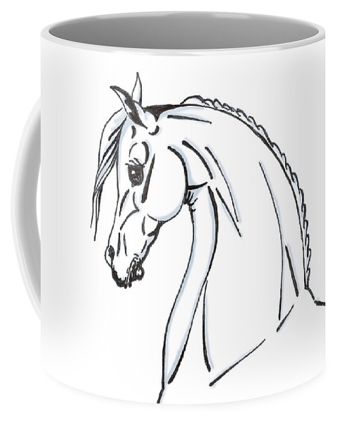 Horse Coffee Mug featuring the drawing Horse Profile Sketch by Christopher McKenzie