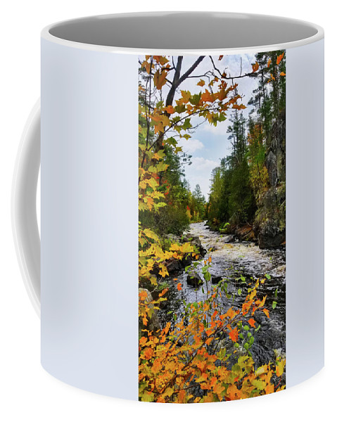 Horse Race Rapids Coffee Mug featuring the photograph Horse Race Rapids 2 by Brook Burling