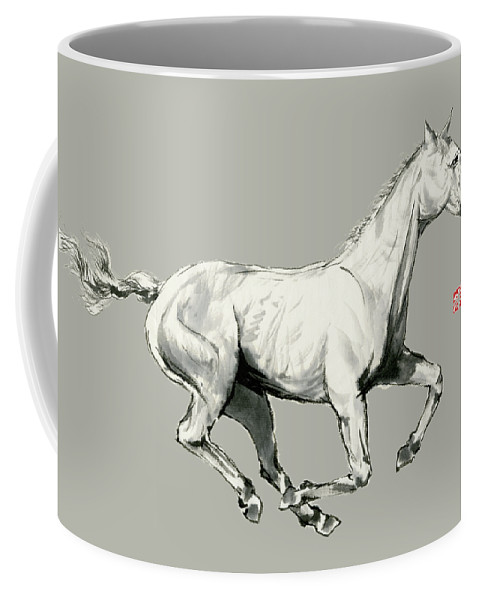 Horse Coffee Mug featuring the painting Horse - 5 by River Han