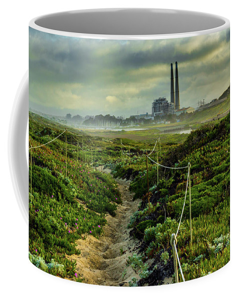 Beach Coffee Mug featuring the photograph Horse Trail by Joe Azevedo