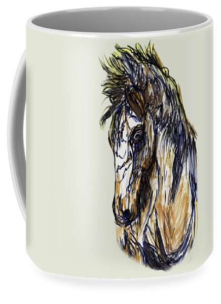 Texas Coffee Mug featuring the photograph Horse Twins II by Erich Grant