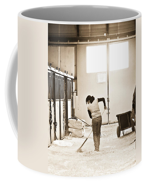 Horse Coffee Mug featuring the photograph Horse Work by Marilyn Hunt