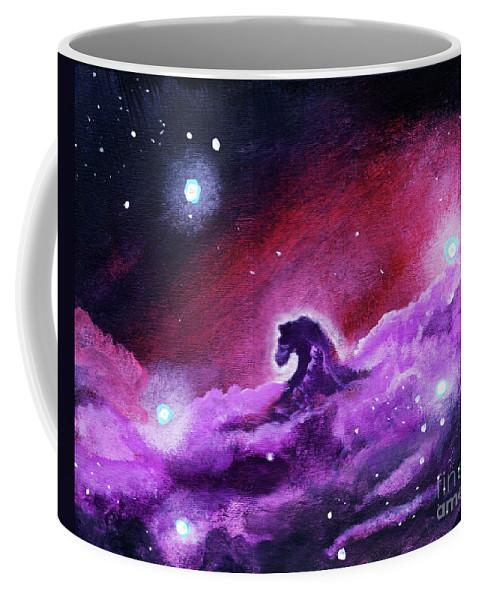 Horse Coffee Mug featuring the painting Horsehead Nebula 1 by Jamie Hartley