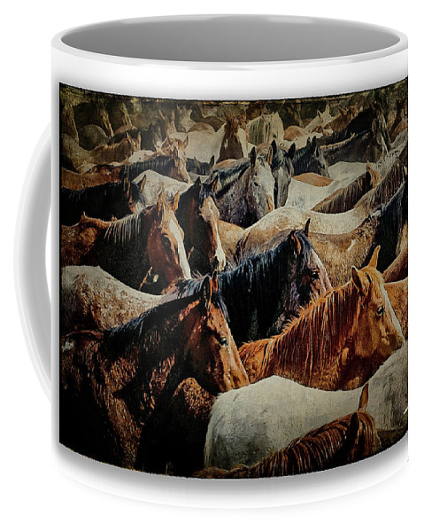 Horses Coffee Mug featuring the photograph Horses 29 by Ingrid Smith-Johnsen