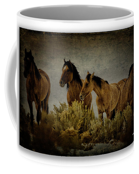 Horses Coffee Mug featuring the photograph Horses 34 by Ingrid Smith-Johnsen