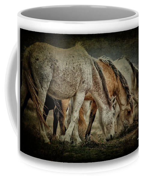 Horses Coffee Mug featuring the photograph Horses 39 by Ingrid Smith-Johnsen