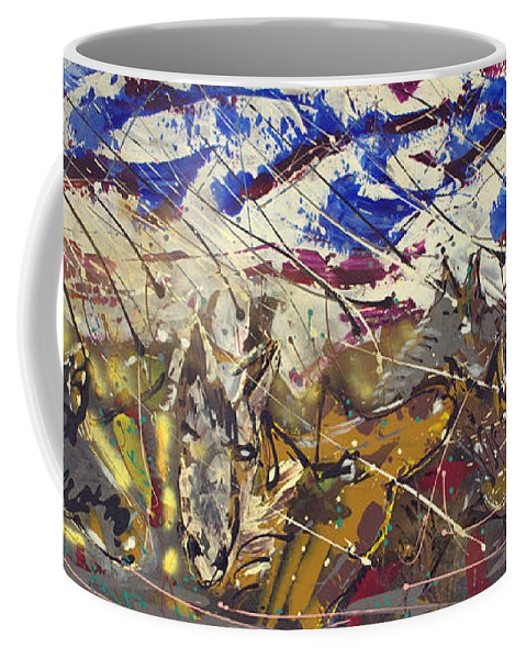 Impressionist Painting Coffee Mug featuring the painting Spirit Of The Horses by J R Seymour