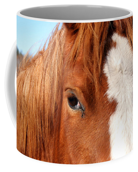 Horse Coffee Mug featuring the photograph Horse's Mane by Thomas Marchessault
