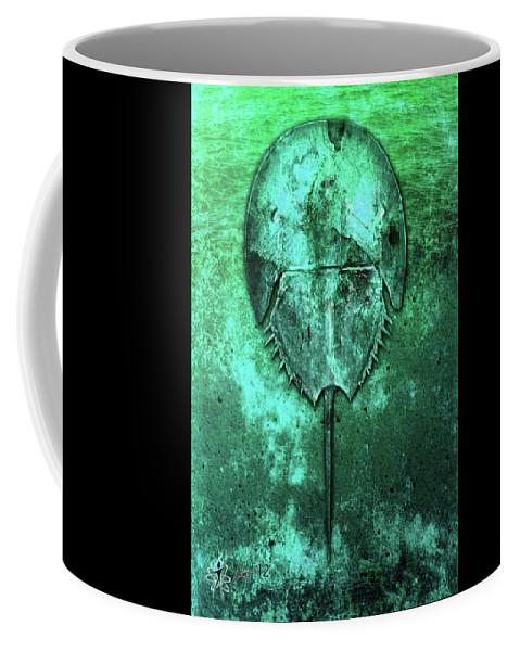Cars Coffee Mug featuring the digital art Horseshoe Crab by Doug Schramm
