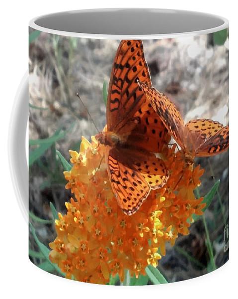 Horton Butterflies Coffee Mug featuring the digital art Horton Butterflies by Ray Hunt