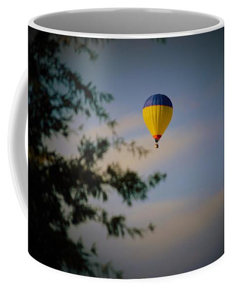 Hot Air Balloon Coffee Mug featuring the photograph Hot Air Ballon In Oklahoma by Gary Clem