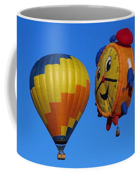 Ballooning Coffee Mug featuring the photograph Hot Air Balloon Conversation by Dart and Suze Humeston