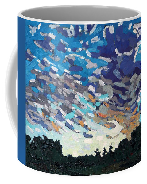 1796 Coffee Mug featuring the painting Hot August Sunrise by Phil Chadwick