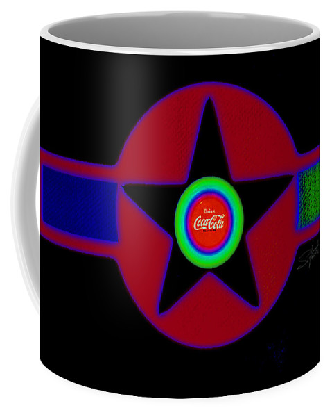 Usaaf Coffee Mug featuring the painting Hot Black by Charles Stuart