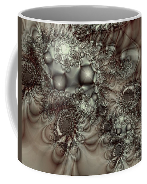 Green Coffee Mug featuring the digital art Hot Chocolate Possibilities by Casey Kotas