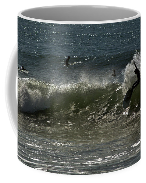 Surfing Coffee Mug featuring the photograph Hot Dog 1 by Michael Gordon