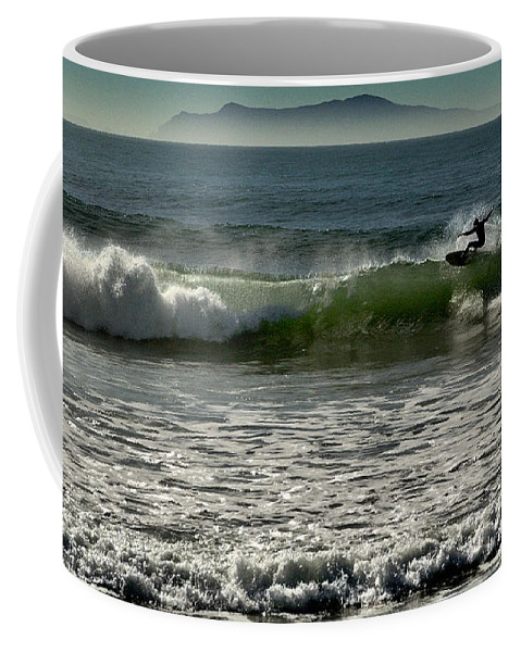 Surfing Coffee Mug featuring the photograph Hot Dog 2 by Michael Gordon
