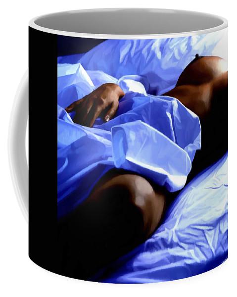 Hot Dreams Coffee Mug featuring the mixed media Hot Dreams #1 by Gabriel T Toro
