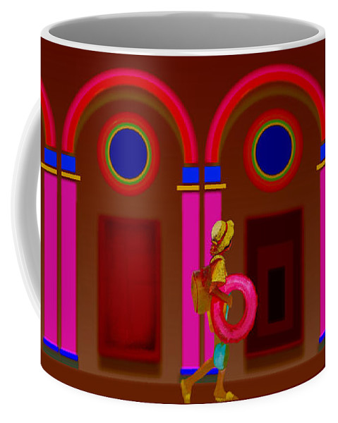 Classical Coffee Mug featuring the painting Hot Night In Rome by Charles Stuart