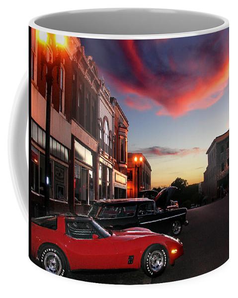 Car Coffee Mug featuring the photograph Hot Night by Steve Karol