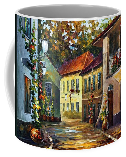 Afremov Coffee Mug featuring the painting Hot Noon by Leonid Afremov