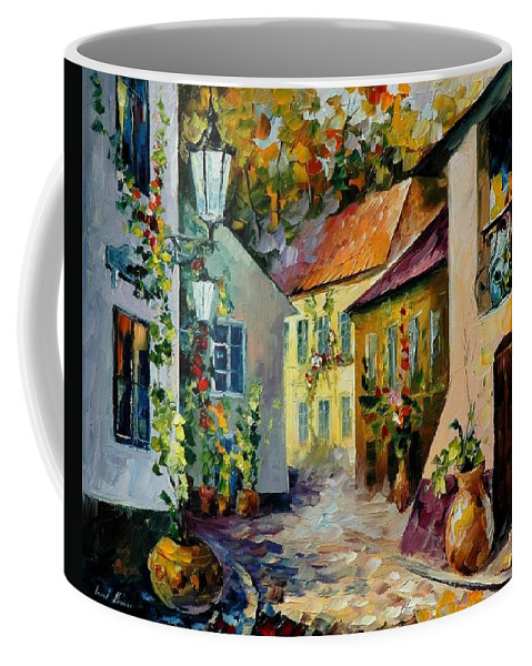 Landscape Coffee Mug featuring the painting Hot Noon Original Oil Painting by Leonid Afremov