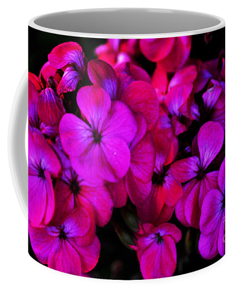 Clay Coffee Mug featuring the photograph Hot Pink Florals by Clayton Bruster