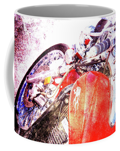 Ducati Coffee Mug featuring the photograph Hot Red by Susanne Van Hulst