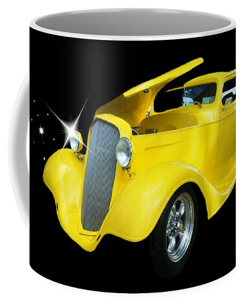 Antique Car Coffee Mug featuring the photograph Hot Rod by Diana Angstadt