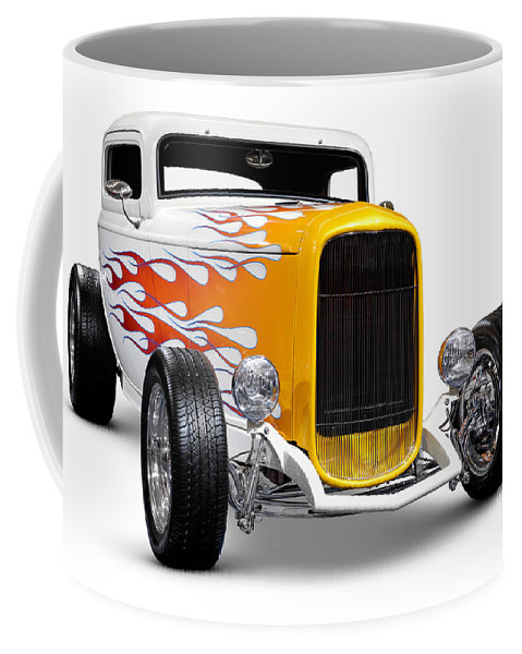 Hot Rod Coffee Mug featuring the photograph Hot Rod Ford Hi-boy Coupe 1932 by Oleksiy Maksymenko