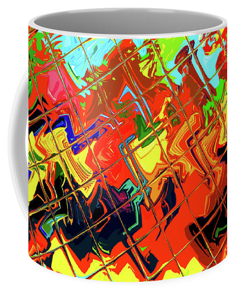 Tile Coffee Mug featuring the digital art Hot Tile Reflection by Stephen Younts