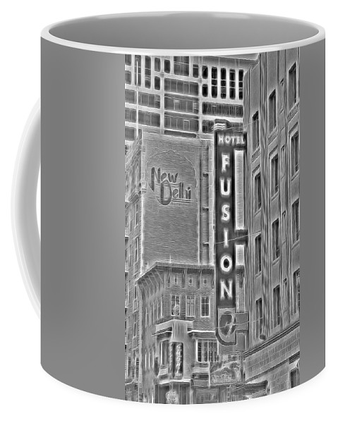 Hotel Coffee Mug featuring the photograph Hotel Fusion by Michael Moriarty