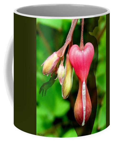 Fleurotica Art Coffee Mug featuring the digital art Hourglass by Torie Tiffany
