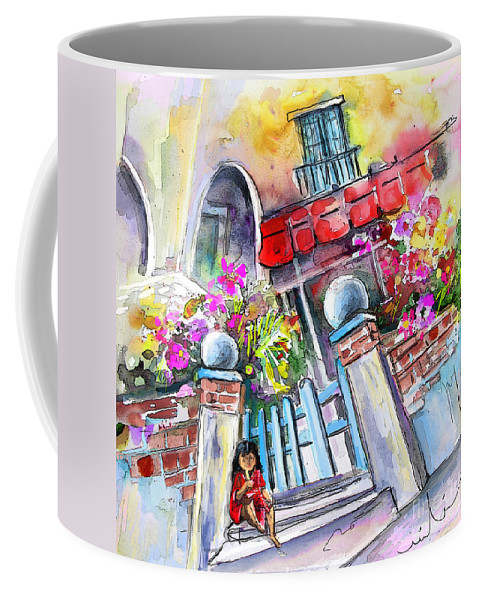 Garrucha Painting Coffee Mug featuring the painting House Entrance In Garrucha by Miki De Goodaboom