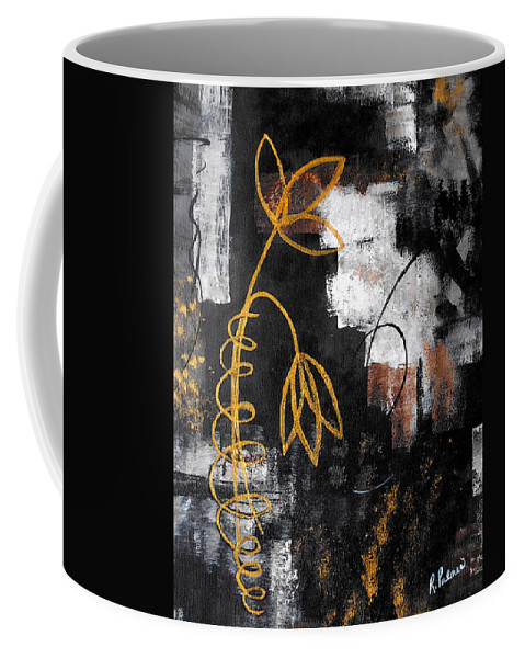 Abstract Coffee Mug featuring the painting House Of Memories by Ruth Palmer