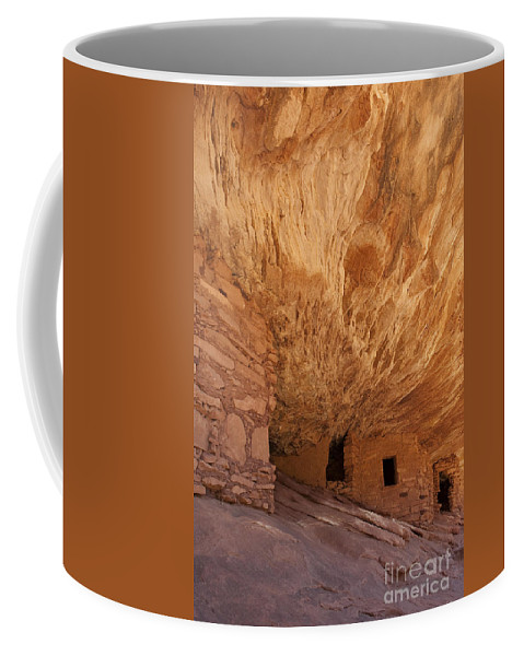 Southwest Coffee Mug featuring the photograph House On Fire-indian Ruin by Sandra Bronstein