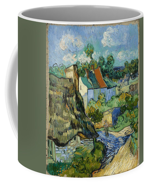 Vincent Van Gogh Coffee Mug featuring the painting Houses In Auvers by Van Gogh