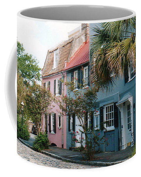 Photography Coffee Mug featuring the photograph Houses In Charleston Sc by Susanne Van Hulst
