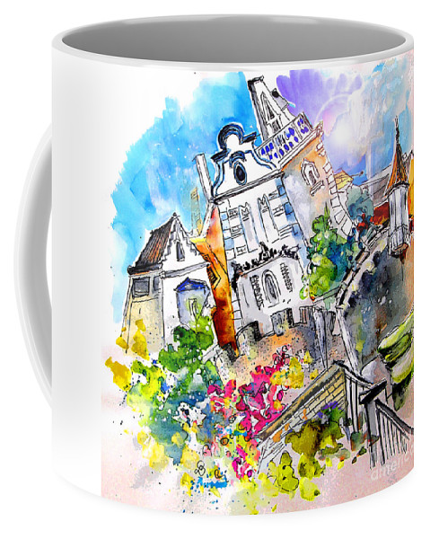 Portugal Coffee Mug featuring the painting Houses In Ponte De Lima by Miki De Goodaboom
