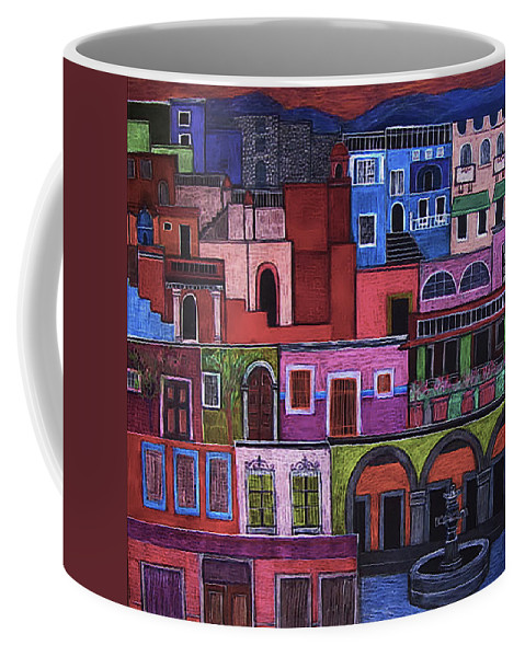 Houses Coffee Mug featuring the painting Houses Of San Miguel 2 by Liz Blair