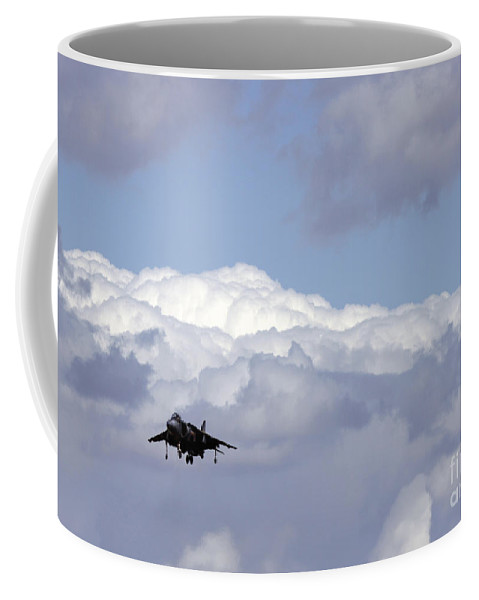 Ircraft Coffee Mug featuring the photograph Hovering by Angel Ciesniarska