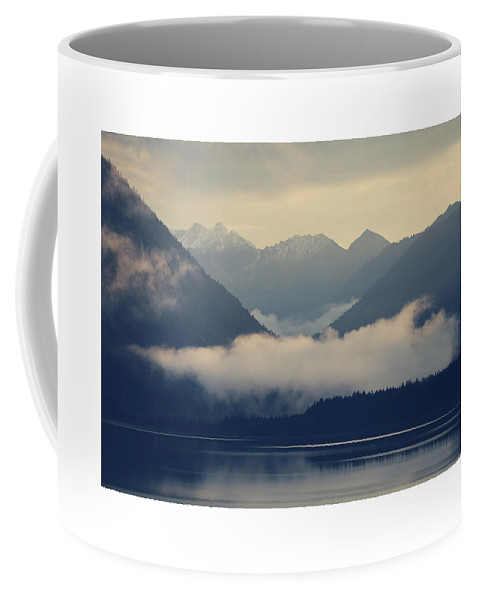 Lake Coffee Mug featuring the photograph Hovering Cloud At Lake Sylvenstein by Franz Sussbauer