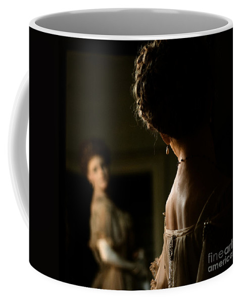 Warwick Coffee Mug featuring the photograph How Do I Look by Angel Ciesniarska