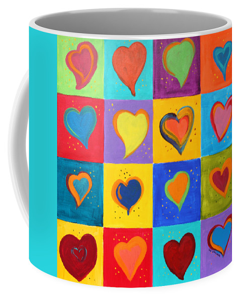 Valentines Coffee Mug featuring the painting How Do I Love You by Deb Harclerode